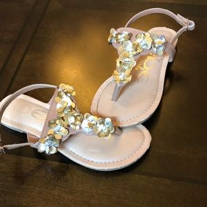 Other - Gold sequin sandals, size little girl 13